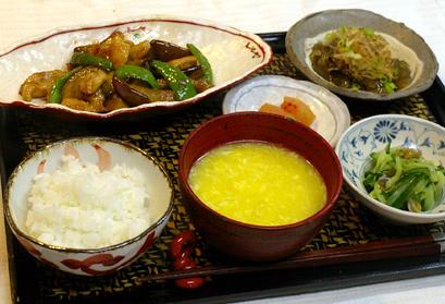 6/27(金)鶏と茄子の甘辛炒め