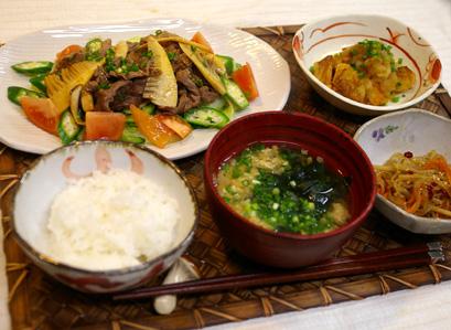 2/13(水)オトナゴハン(おかずサラダ@牛肉)